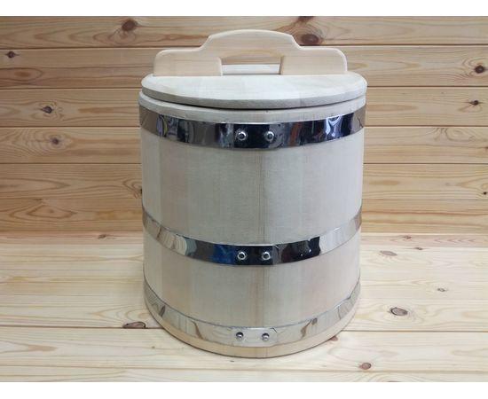 Кадка из кедра 30 л обручи из нержавеющей стали, фото