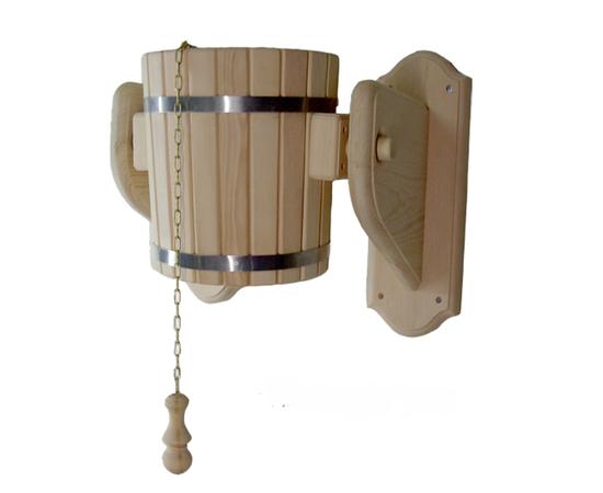 Обливное устройство из кедра для бани/сауны «Ливень» 10 л. Обливное ведро, фото