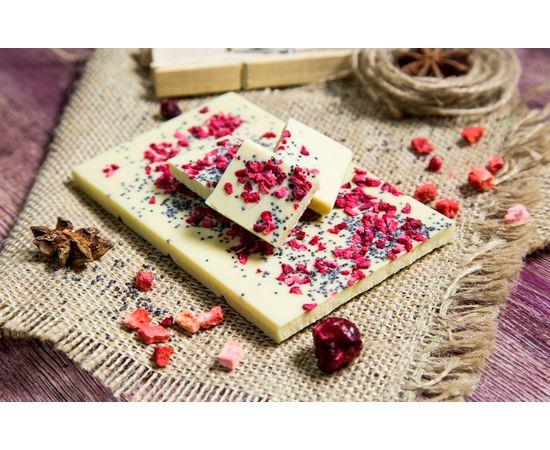 Белый шоколад «Мак и малина», фото