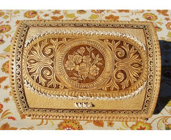 """Хлебница из бересты """"Цветочный орнамент"""", фото , изображение 2"""