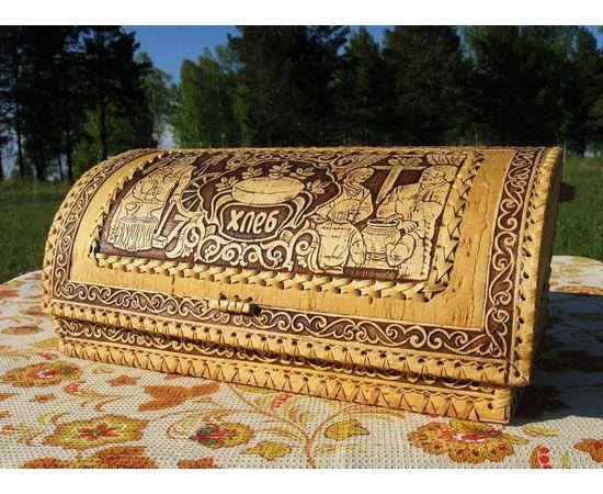 """Хлебница из бересты """"Дружная семья"""", фото , изображение 3"""
