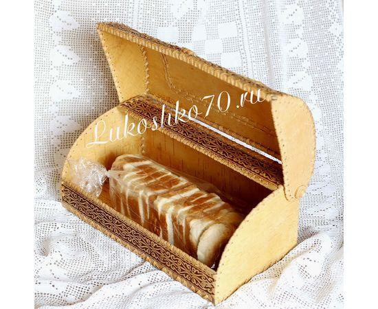 """Хлебница из бересты """"Снегирь"""", фото , изображение 2"""