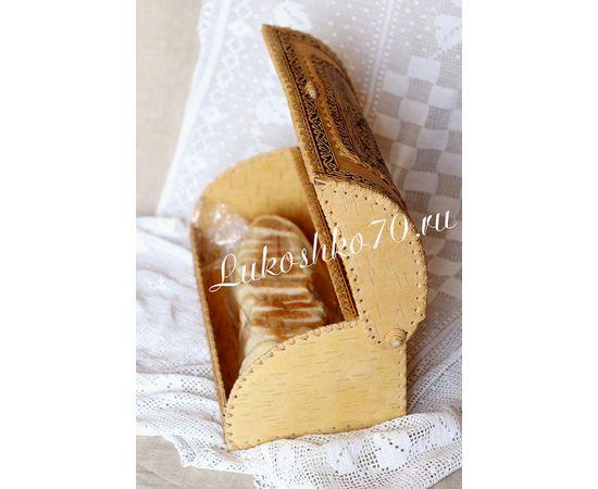 """Хлебница из бересты """"Снегирь"""", фото , изображение 3"""
