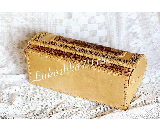 """Хлебница из бересты """"Снегирь"""", фото , изображение 4"""