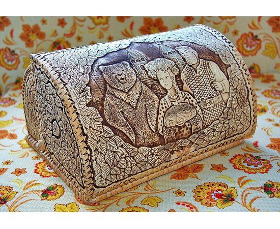 """Хлебница из бересты """"Каравай"""", фото , изображение 2"""