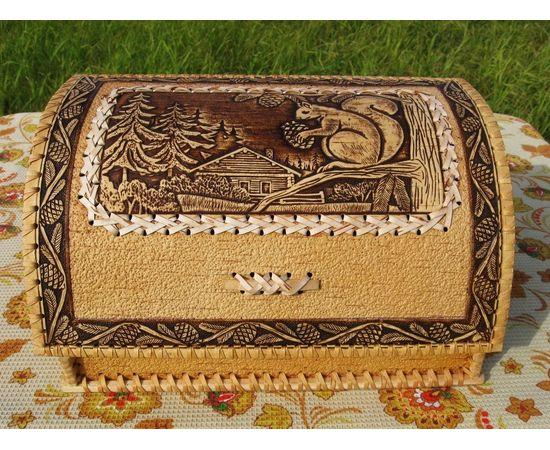 """Хлебница из бересты """"Белочка"""", фото , изображение 4"""