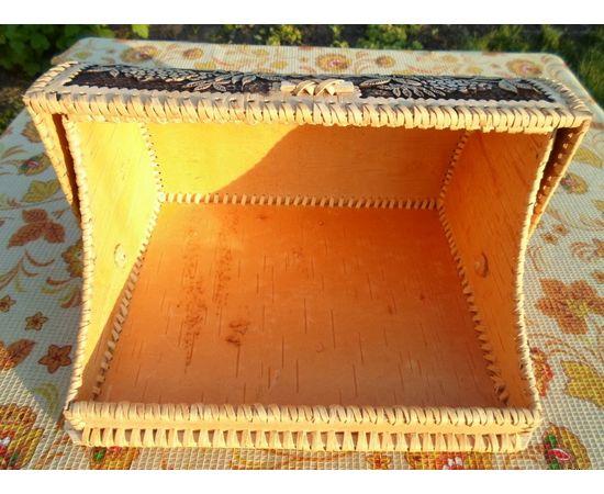 """Хлебница из бересты """"Совушка"""", фото , изображение 3"""