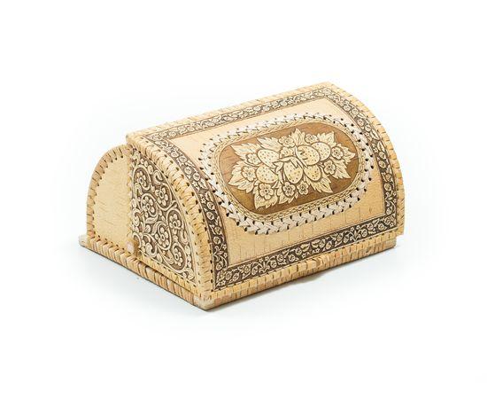 """Хлебница из бересты на 1 булку """"Ягодки"""", фото , изображение 5"""