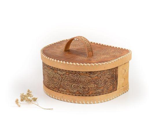 Хлебница из бересты полукруглая «Фея», фото , изображение 2