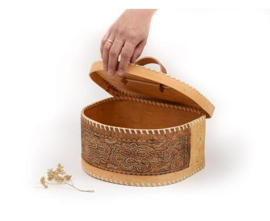 Хлебница из бересты полукруглая «Фея», фото , изображение 3