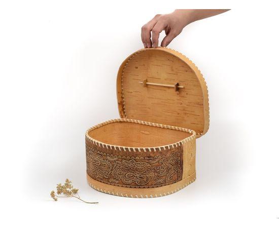 Хлебница из бересты полукруглая «Фея», фото , изображение 4