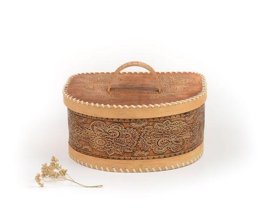 Хлебница из бересты полукруглая «Фея», фото