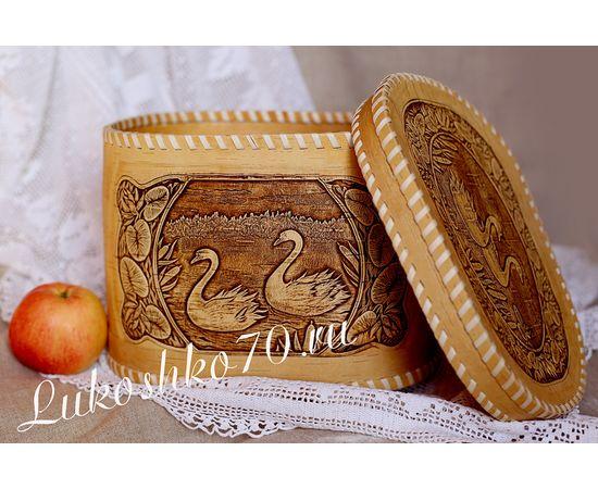 """Хлебница - короб из бересты """"Лебеди"""", фото , изображение 2"""