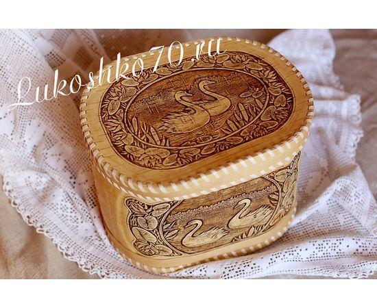 """Хлебница - короб из бересты """"Лебеди"""", фото , изображение 3"""