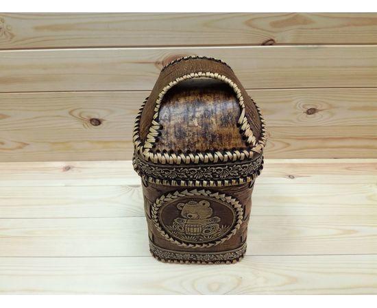 Короб из бересты малый «Медвежонок», фото , изображение 2