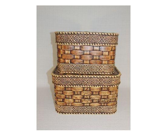 Набор из двух плетеных коробов, фото , изображение 3