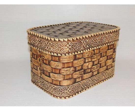 Набор из двух плетеных коробов, фото , изображение 4