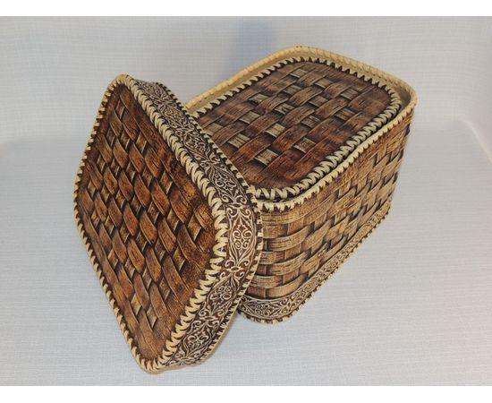 Набор из двух плетеных коробов, фото , изображение 6