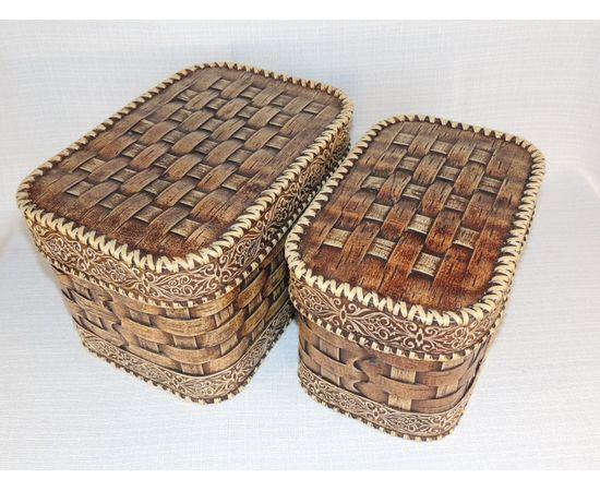 Набор из двух плетеных коробов, фото , изображение 8