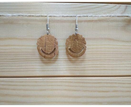 """Серьги из бересты с камнем """"Корзинка"""" (в ассортименте), фото , изображение 2"""
