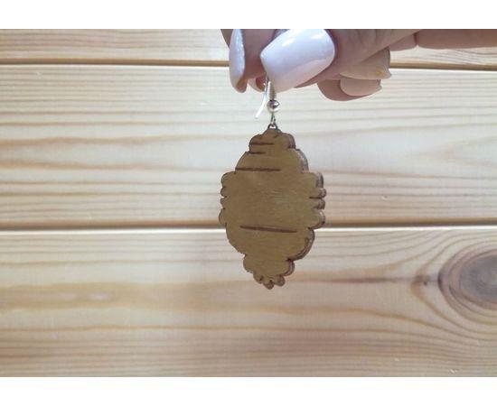 Серьги из бересты «Стильные» (камень в ассортименте), фото , изображение 2