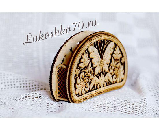 """Салфетница деревянная """"Бабочка"""", фото , изображение 2"""