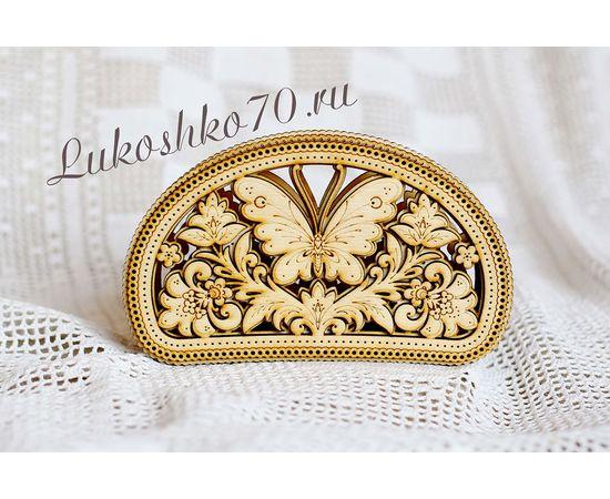 """Салфетница деревянная """"Бабочка"""", фото , изображение 3"""