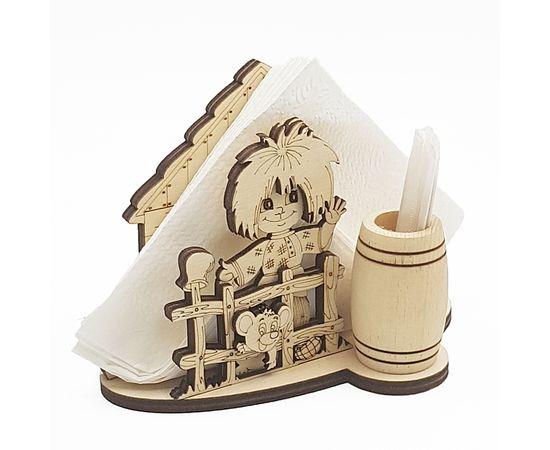Салфетница деревянная Домовой, фото , изображение 2