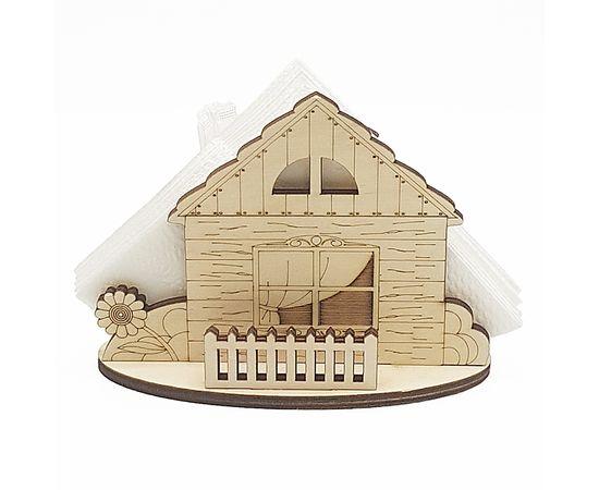 Салфетница деревянная Домовой, фото , изображение 3