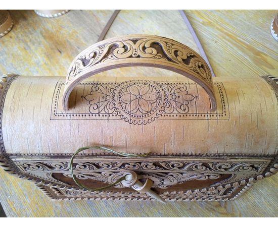Сумочка из бересты Застежка на палочке, фото , изображение 2