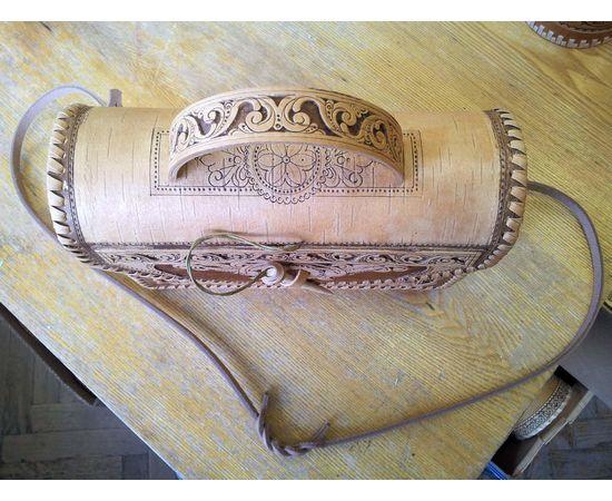 Сумочка из бересты Застежка на палочке, фото , изображение 3