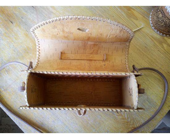 Сумочка из бересты Застежка на палочке, фото , изображение 6