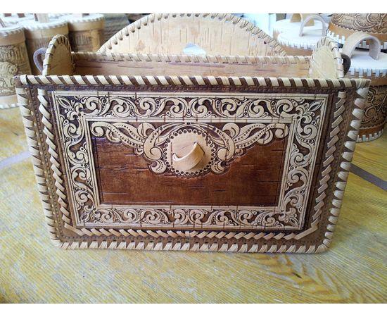 Сумочка из бересты Застежка на палочке, фото , изображение 7