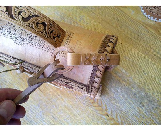 Сумочка из бересты Застежка на палочке, фото , изображение 9