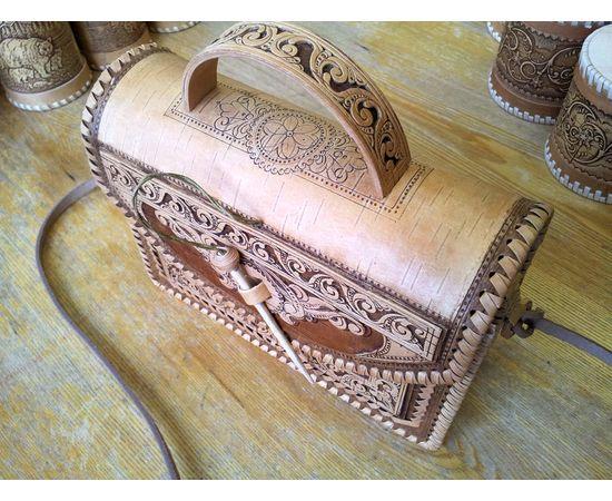 Сумочка из бересты Застежка на палочке, фото , изображение 10