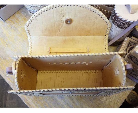 Сумка из бересты резная Застежка на магните, фото , изображение 5