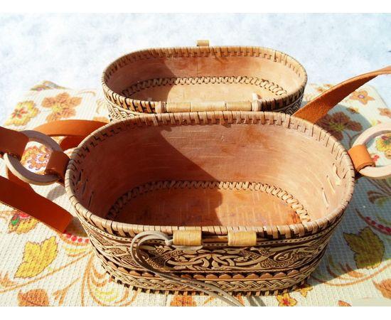 Берестяная сумочка «Цветочный орнамент», фото , изображение 3