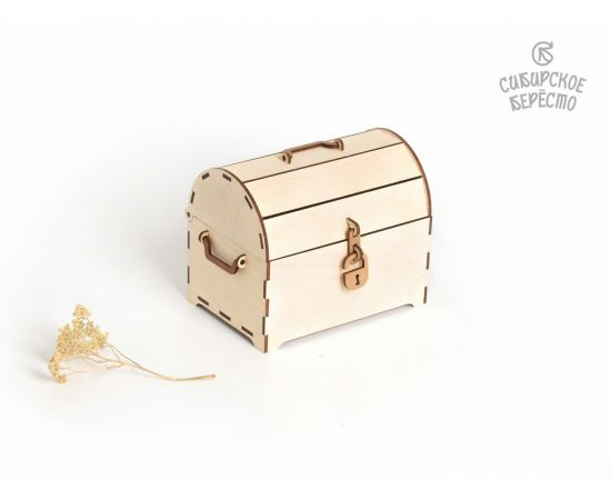 Сундук деревянный средний, фото , изображение 3