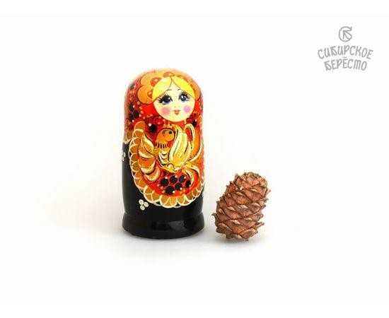"""Матрешка большая """"Жар-птица"""" 5 кукол (Темная), фото , изображение 4"""