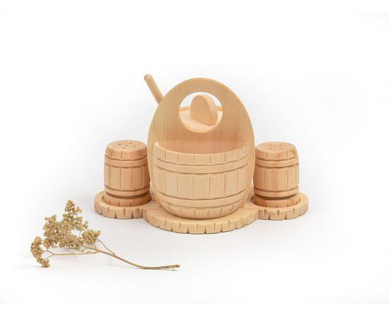 Набор из кедра для сахара соли перца, фото , изображение 2