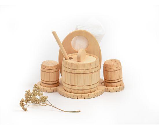 Набор из кедра для сахара соли перца, фото , изображение 3