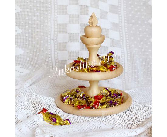 """Конфетница из кедра """"Яблочко"""" маленькая, фото , изображение 2"""