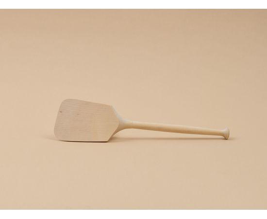 Лопатка деревянная кухонная с точеной ручкой, фото , изображение 4