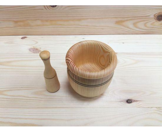 Ступка с пестиком из кедра, фото , изображение 2