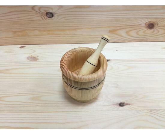 Ступка с пестиком из кедра, фото , изображение 3