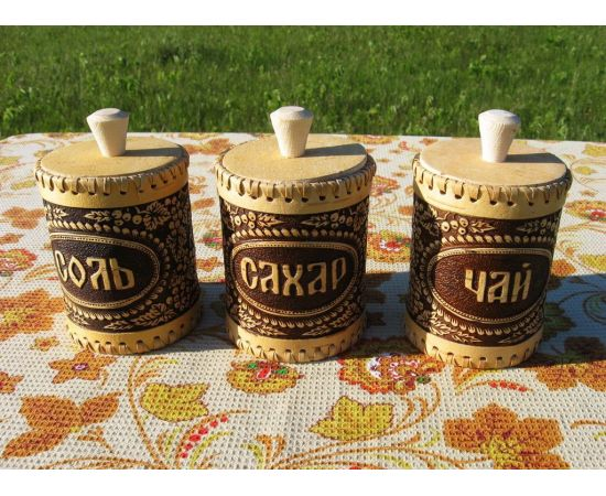 """Набор туесков """"Смородина"""" чай, соль, сахар, фото , изображение 3"""