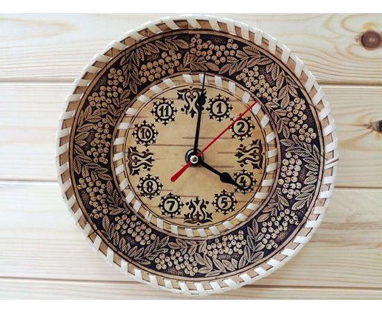 """Часы из бересты малые """"Рябина"""", фото , изображение 2"""