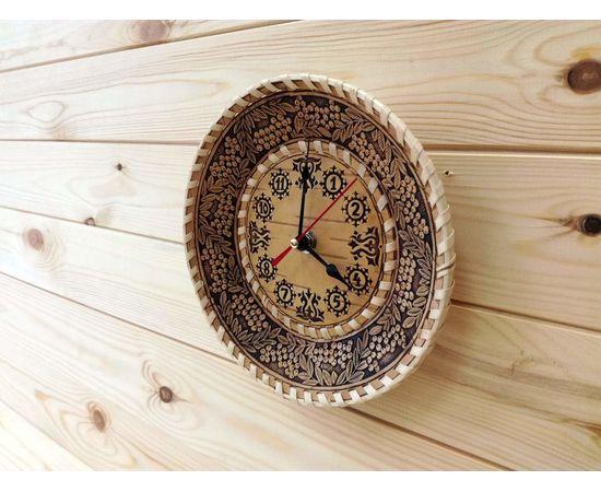 """Часы из бересты малые """"Рябина"""", фото , изображение 3"""