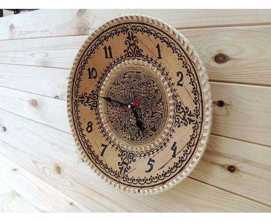 """Часы из бересты настенные большие """"Рябина"""", фото , изображение 3"""