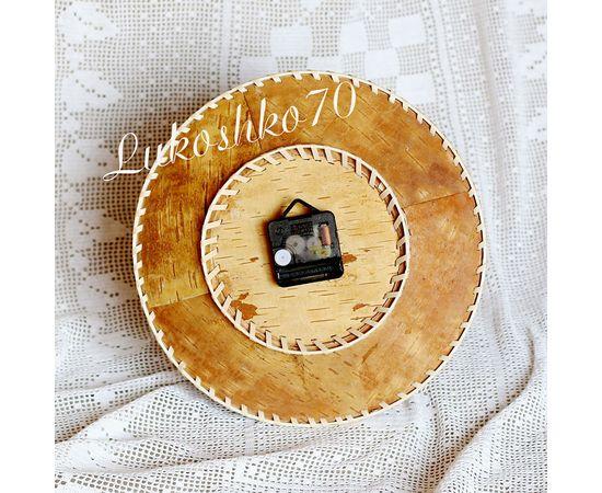 """Часы из бересты настенные большие """"Шишки"""", фото , изображение 4"""